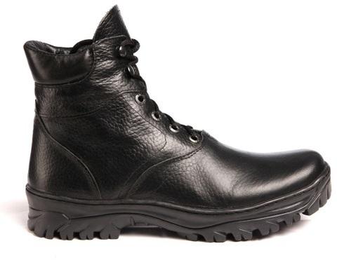 Ботинки кожаные Пилот натуральный мех