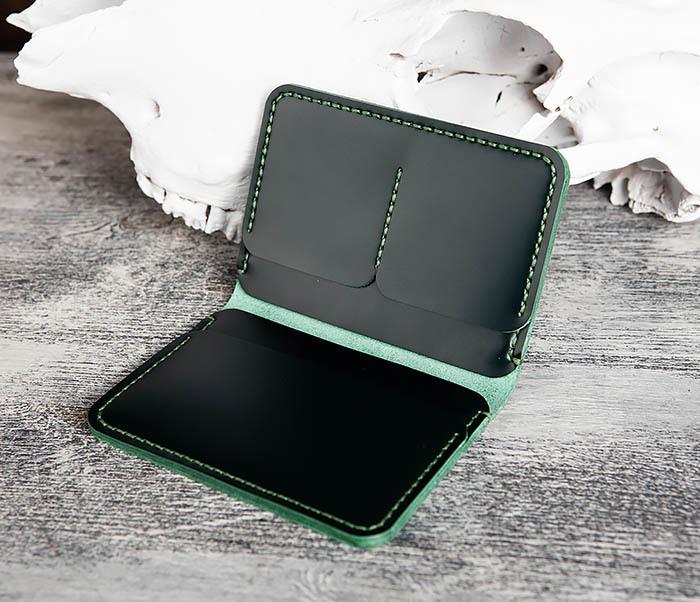 WB170-4 Обложка ручной работы из кожи зеленого цвета фото 06