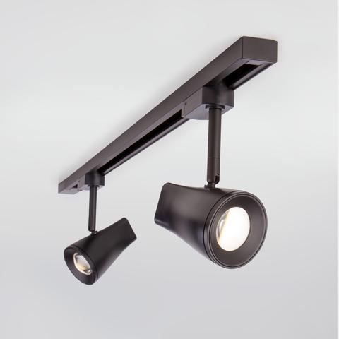Трековый светодиодный светильник для однофазного шинопровода Hardi Черный 9W 4200K LTB18