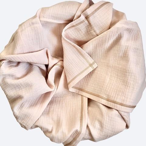 Плед-пелёнка Mjölk Blush из муслинового хлопка