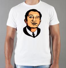 Футболка с принтом  Сальвадор Дали  (Salvador Dalí) белая 004