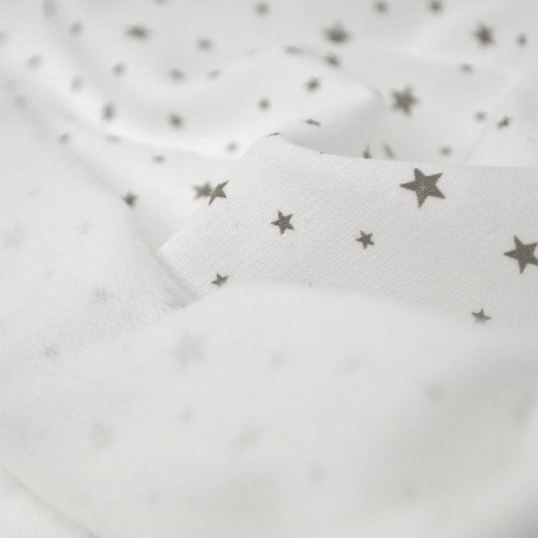 ФЛАНЕЛЬ звёздочки - детская простыня на резинке 80х170