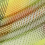 Шёлковая вуаль в диагональные полоски жёлтой гаммы