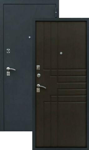 Дверь входная Z-2 стальная, венге, 2 замка, фабрика Зевс