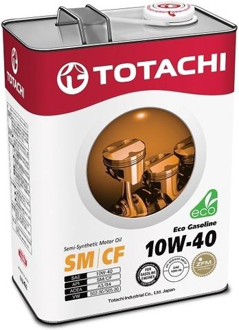 Eco Gasoline 10W-40 TOTACHI масло моторное полусинтетическое (4 Литра)