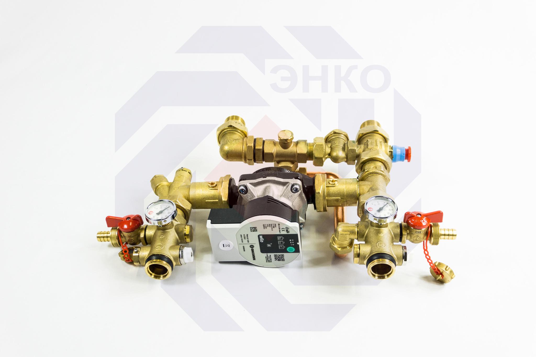 Модуль смесительный GIACOMINI R557RM-1 с насосом 25/6 с электронным управлением