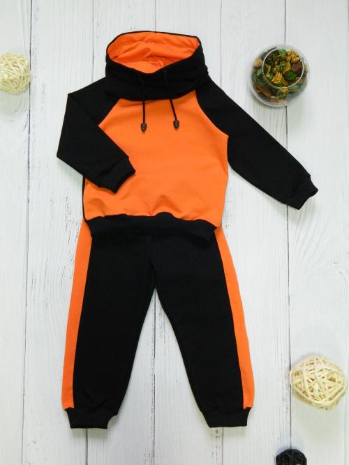 Костюм 3013, черно-оранжевый