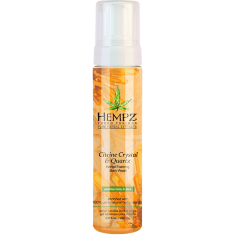Гель-мусс для душа с мерцающим эффектом Желтый Кварц / Hempz Citrine Crystal & Quartz Herbal Foaming Body Wash