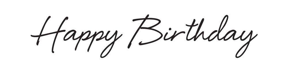 Штамп  Happy Birthday