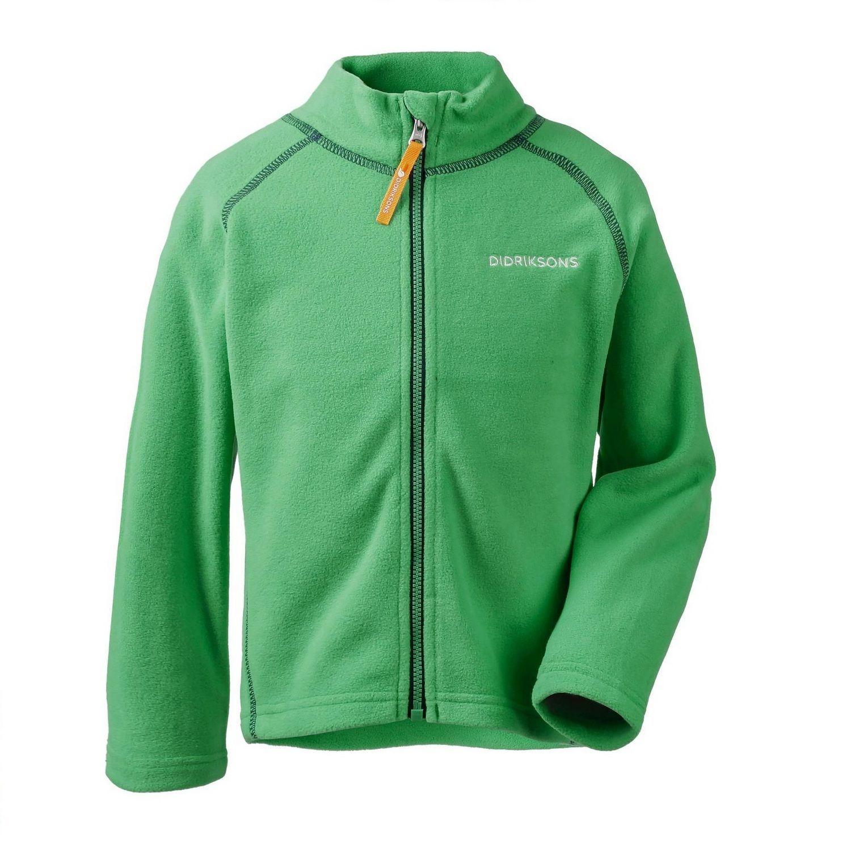 Куртка флис Didriksons Monte kids 502008-019 (изумрудно-зеленый)