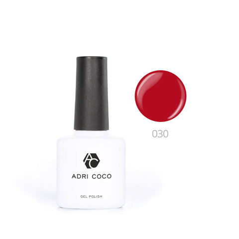 Цветной гель-лак ADRICOCO №030 классический красный (8 мл.)