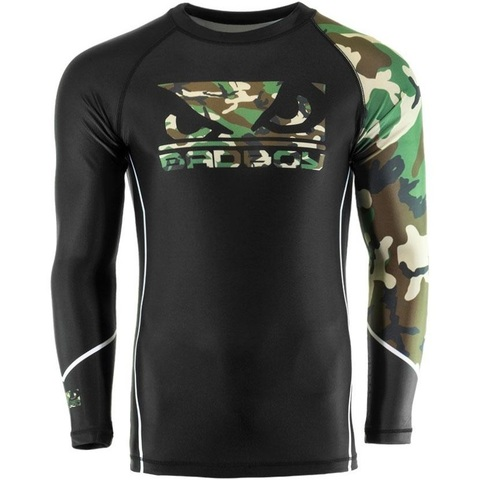 Рашгард Bad Boy Soldier Rash Guard - Black/Сamo