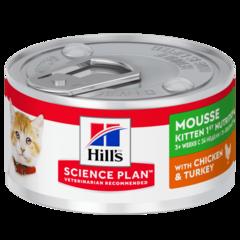 Консервы для котят Hill's Science Plan Healthy Development, мусс с курицей и индейкой
