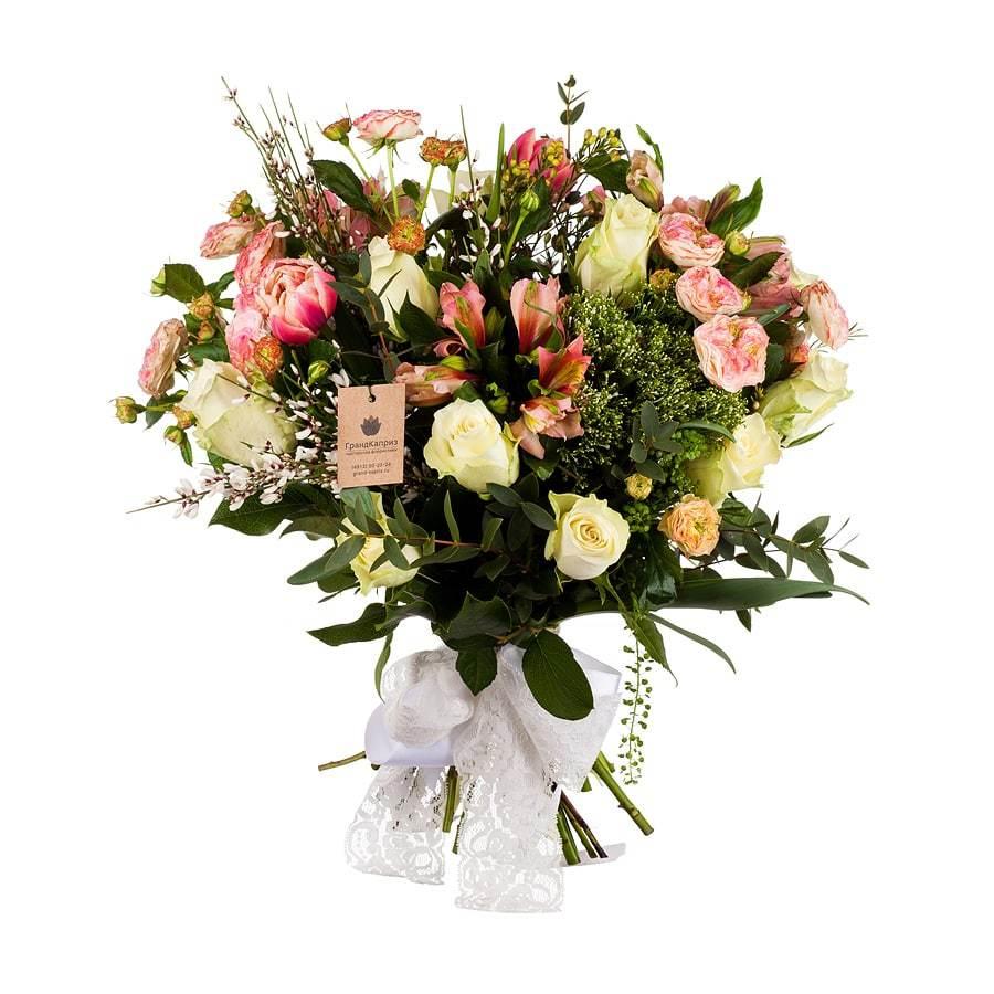Букет из роз и альстромерий - Веста