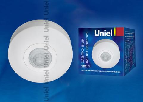 USN-14-360R-1200W-3LUX-6M-0,6-1,5m/s-WH Датчик движения. Картонная упаковка