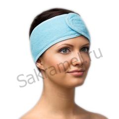 Повязка для волос махровая на липучке (Махра, 1 шт/упк, штучно)
