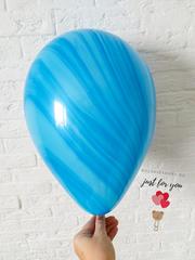 Голубой мраморный шар