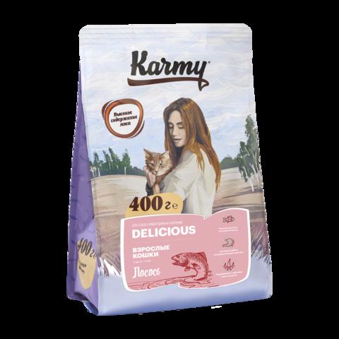 Karmy Delicious Сухой корм для кошек с лососем