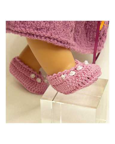 Вязаные туфли - На кукле. Одежда для кукол, пупсов и мягких игрушек.