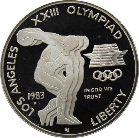 1 доллар. XXIII летние Олимпийские Игры 1984 в Лос-Анджелесе. (S) Серебро. 1983 год. PROOF
