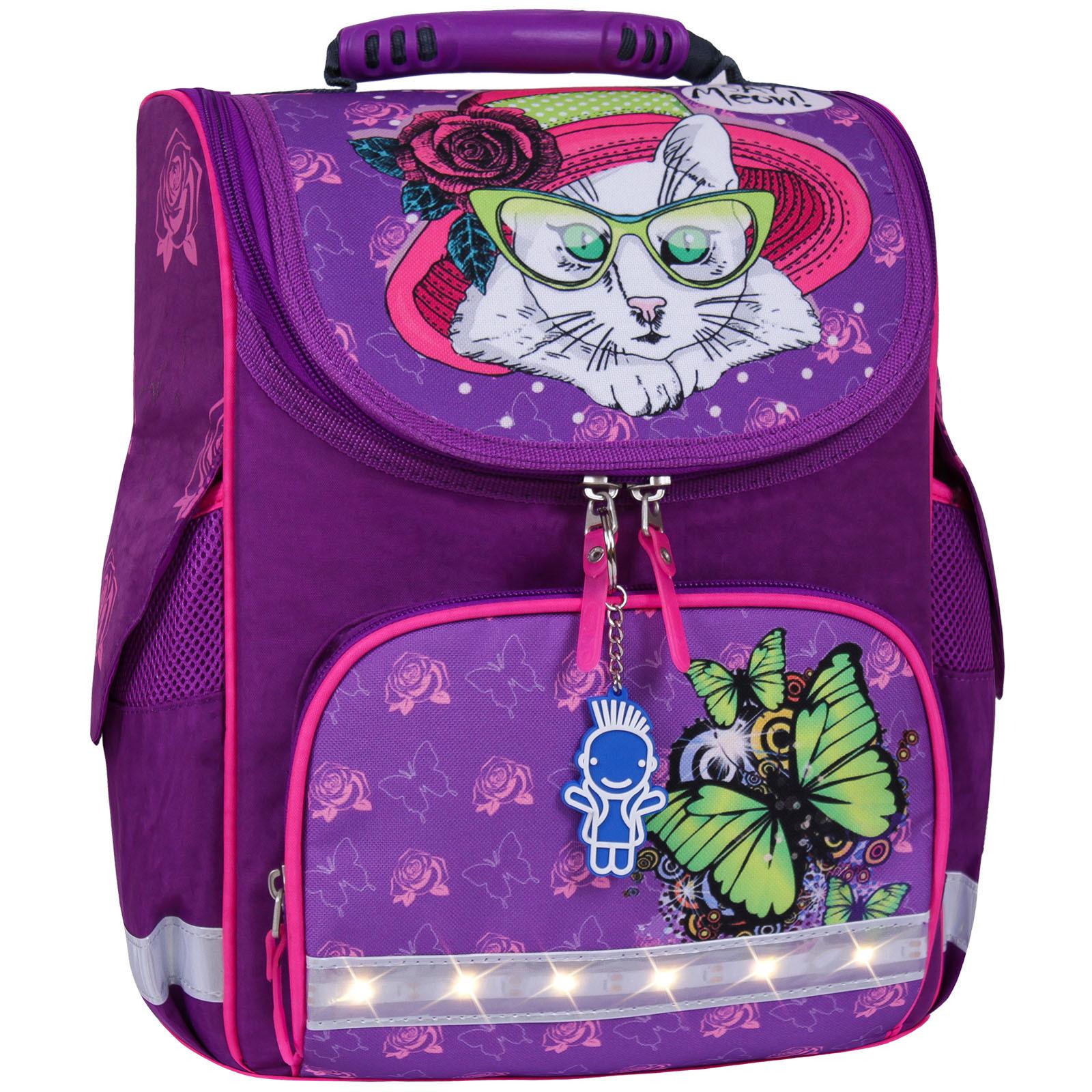 Школьные рюкзаки Рюкзак школьный каркасный с фонариками Bagland Успех 12 л. фиолетовый 168к (00551703) IMG_7180__168К_.jpg