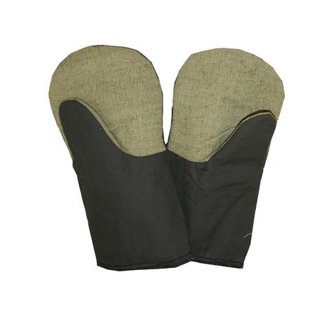 Утепленные рукавицы с брезентовым наладонником