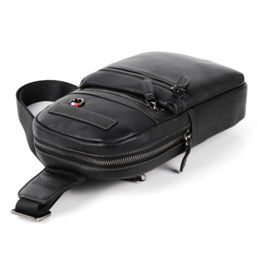 Мужская нагрудная сумка из кожи HT-069