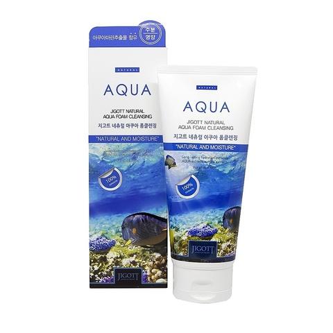 Пенка для умывания с аквамарином JIGOTT Natural Aqua Foam Cleansing