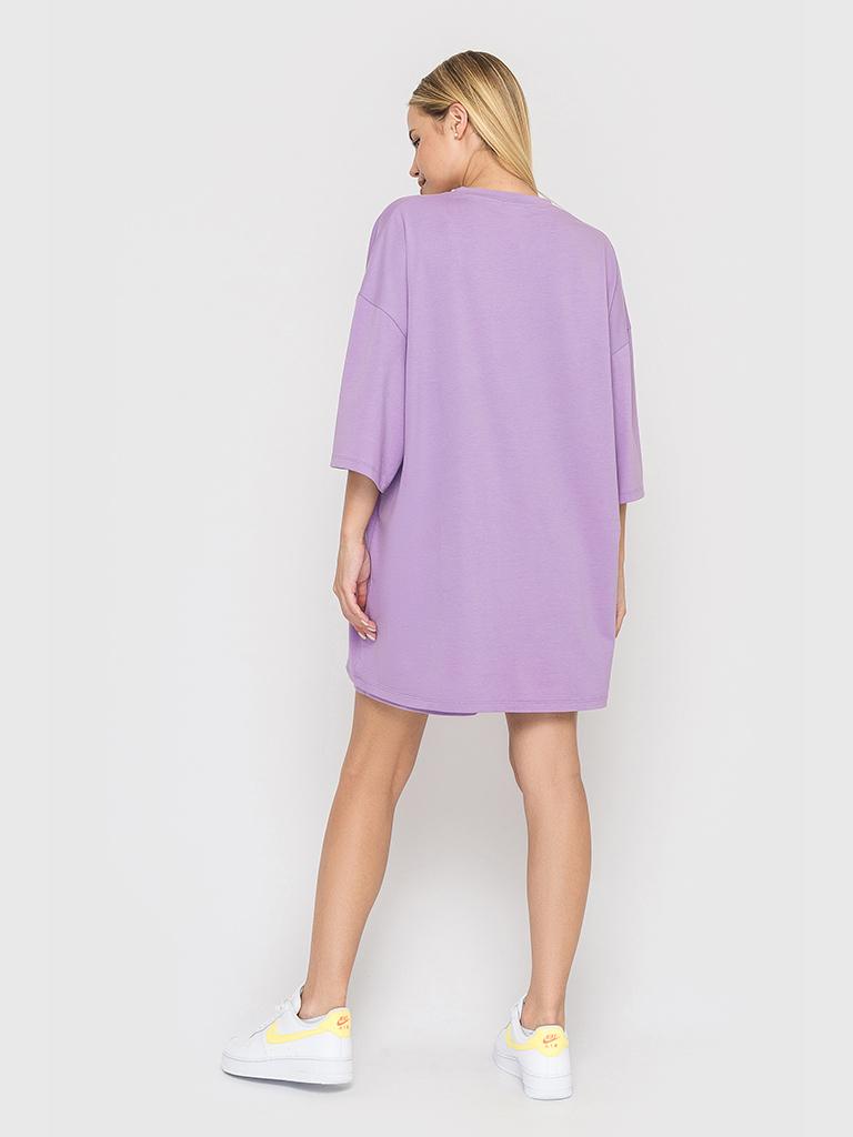 Костюм трикотажный (шорты и футболка) лиловый YOS от украинского бренда Your Own Style