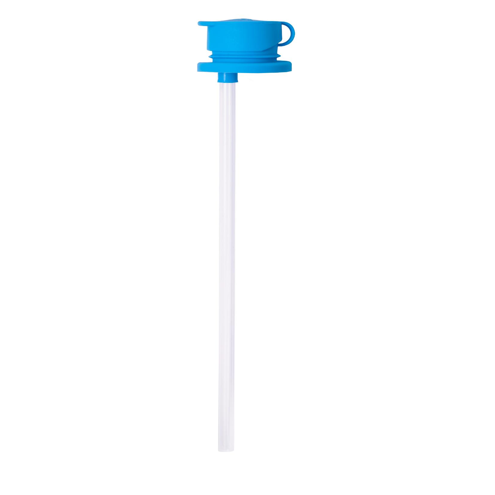Силиконовая крышка c трубочкой для бутылочки Pura голубой