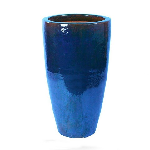 Кашпо (керамика) Blue Partner, D36xH70см синий