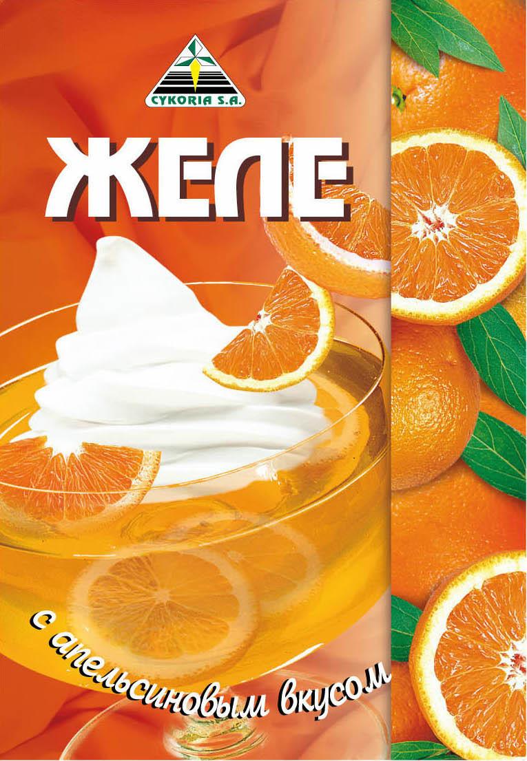 Желе с апельсиновым вкусом, 50 гр.