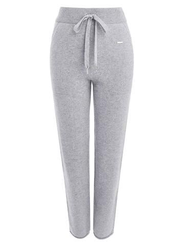 Женские серые брюки с карманами из 100% кашемира - фото 1