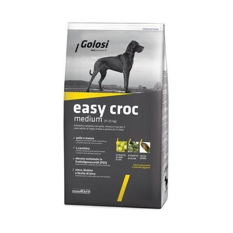 Сухой корм GOLOSI EASY CROC MEDIUM для взрослых собак средних пород с курицей, говядиной и рисом 12 кг.