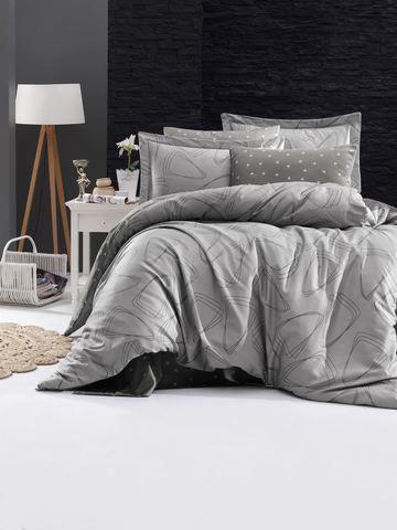 Комплект постельного белья DO&CO Сатин DELUX Семейный ROVENA цвет серый