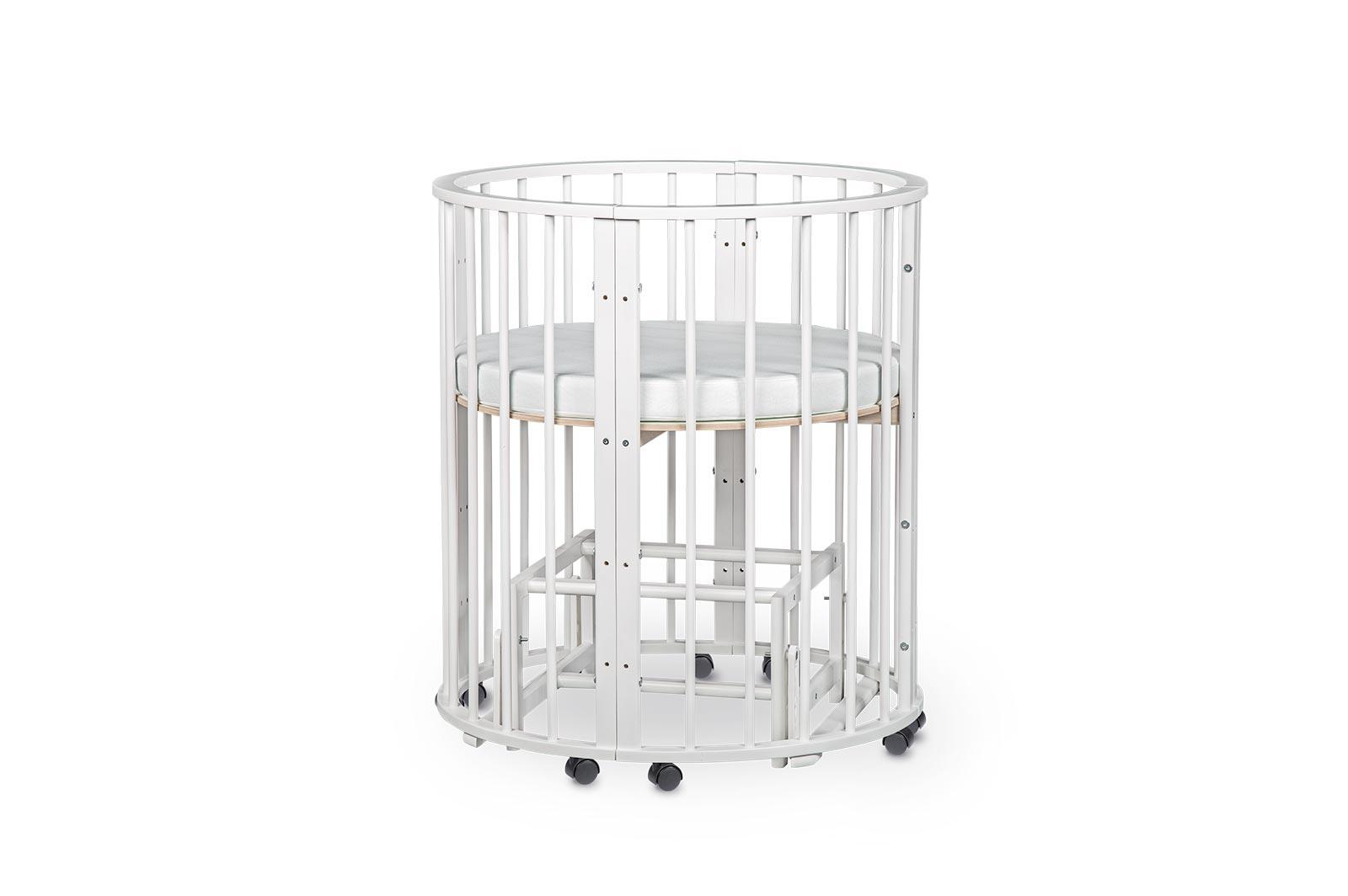 Кроватка для новорожденных трансформер Sleepy 8 в 1 с маятником Розовый