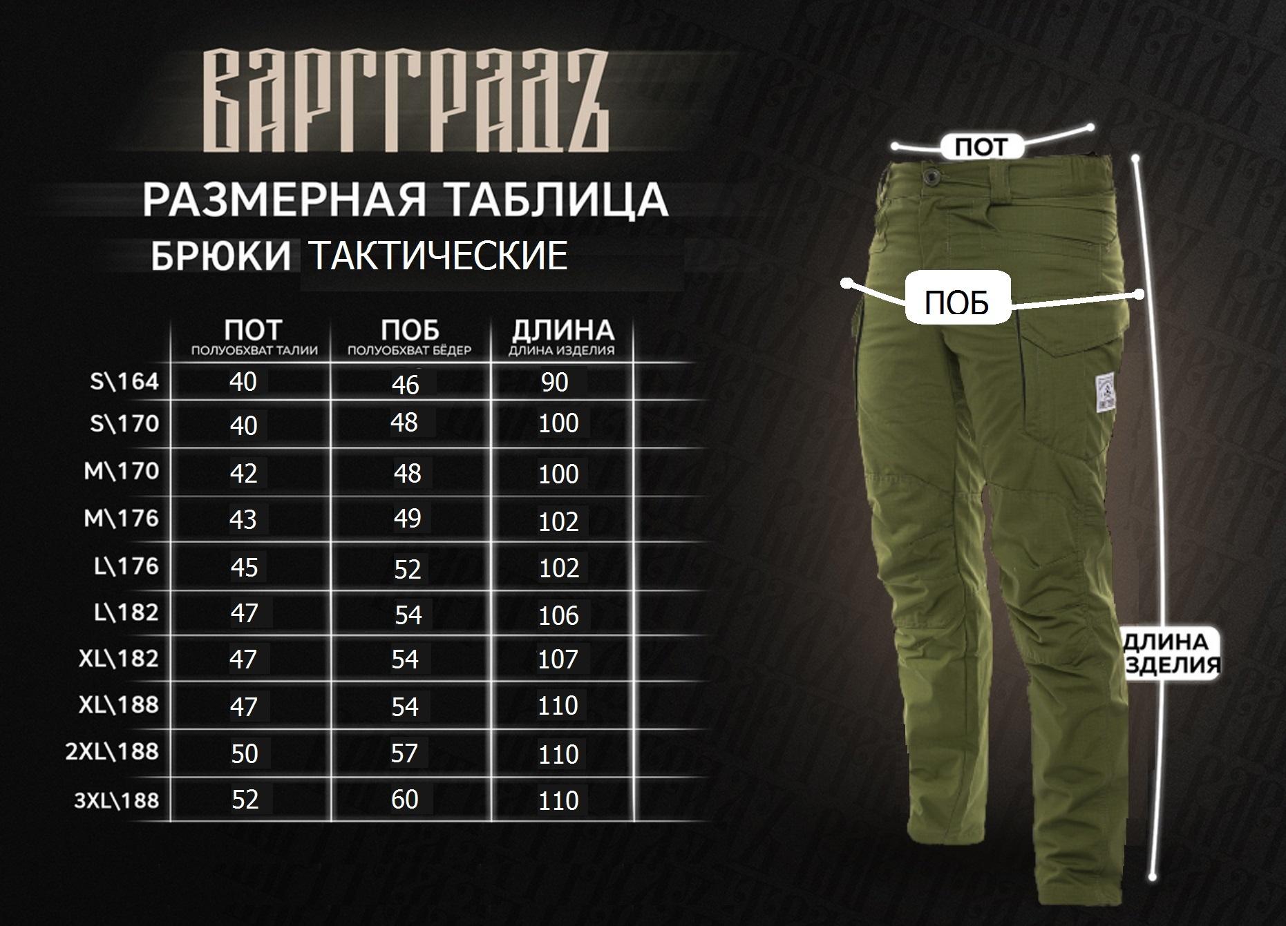 Брюки Тактические Варгградъ мужские олива green Рип-Стоп