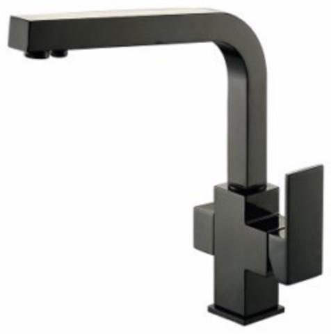 Смеситель KAISER Sonat 34044-9 черный глянцевый для кухни под фильтр