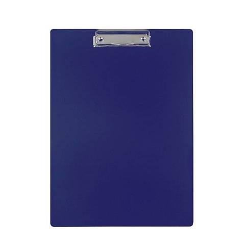 Планшет inФОРМАТ А4 вертик. пластик двухстор.PVC синий с зажимом