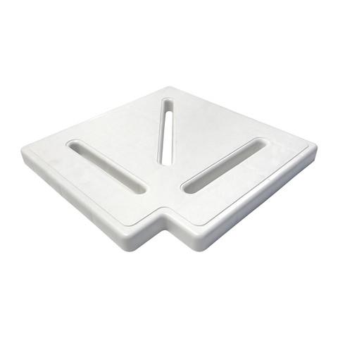 Угловой элемент для переливной решетки Aquaviva Classik и Grift 90° 295*25мм / 16702