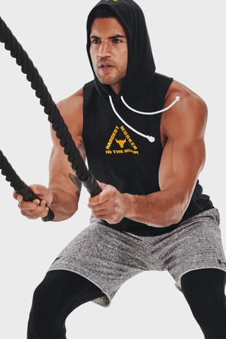 Мужские серые шорты UA Project Rock Terry Shorts Under Armour