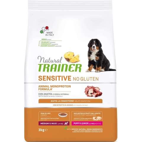 Сухой корм Natural Trainer Sensitive No Gluten Puppy&Junior Medium&Maxi - Duck 12 кг