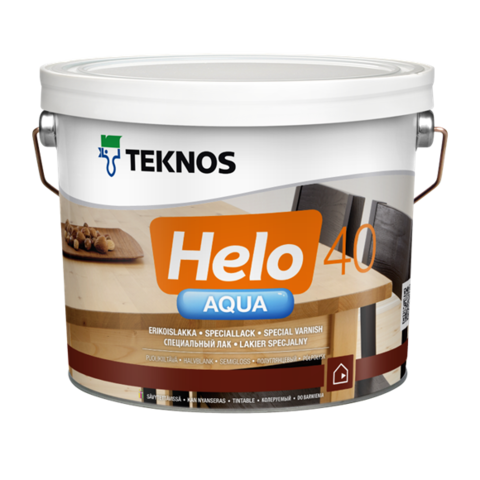 TEKNOS HELO AQUA 40/ТЕКНОС ХЕЛО АКВА 40Полуглянцевый водоразбавляемый специальный лак