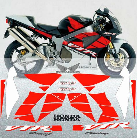 Набор виниловых наклеек на мотоцикл HONDA VTR 1000 SP-2 2005
