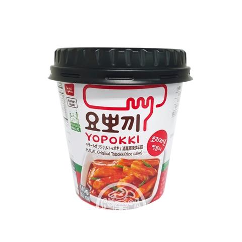 Рисовые клёцки Токпокки бп с остро-сладким соусом 140г Южная Корея