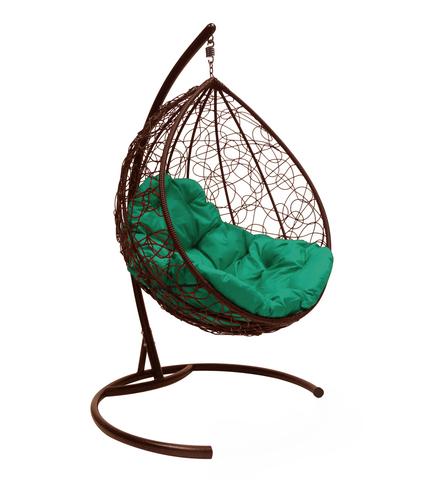 Кресло подвесное Lagos brown/green