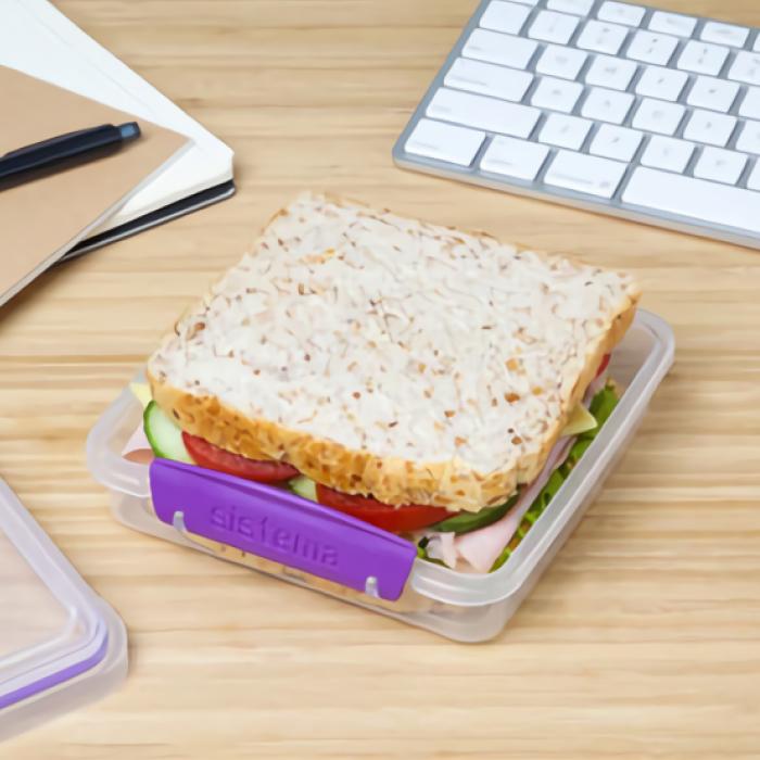 """Контейнер для сэндвичей Sistema """"TO GO"""" 450 мл, цвет Фиолетовый"""