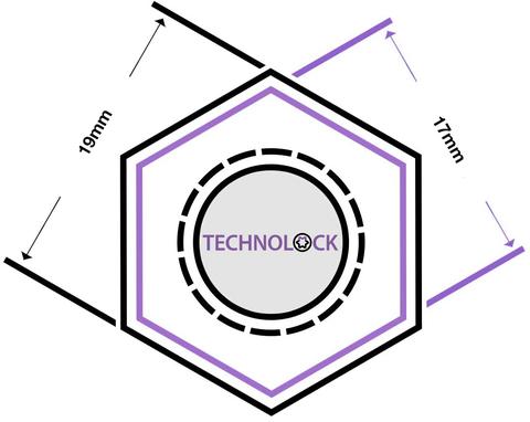 Секретные болты колеса TECHNOLOCK E1 М12x1.25x30,5 ключ=17/19 конус