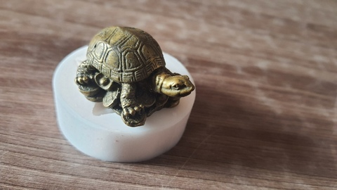 Силиконовый молд Черепаха  фен-шуй