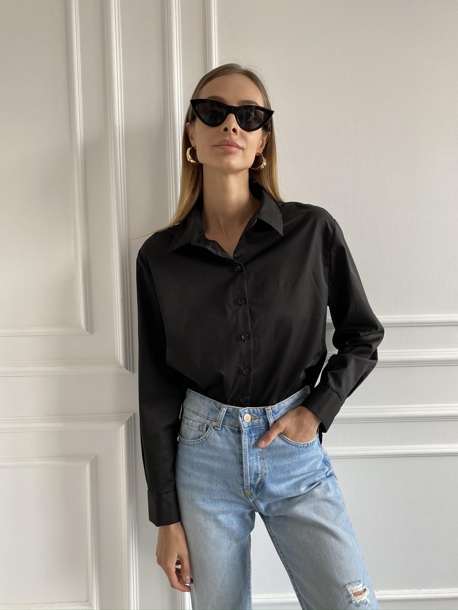Рубашка Basic black